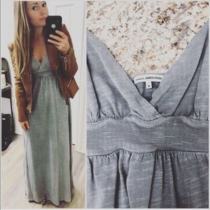 James Perse Standard Grey Maxi Dress sz 3
